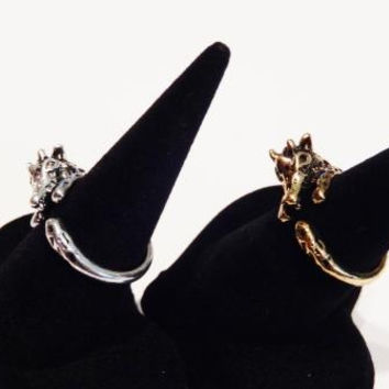 Gold or Silver Plated Giraffe Ring