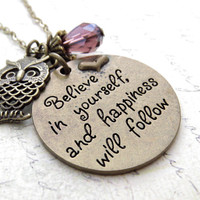 Believe in Yourself Charm Necklace