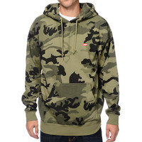 Obey Bar Logo Camo Pullover Hoodie at Zumiez : PDP