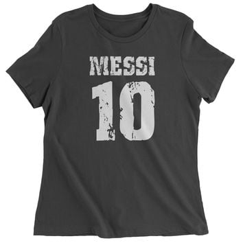 Messi 10 Football Womens T-shirt