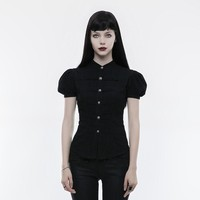 NuGothic Puff Sleeve Retro Pin-Up Goth Blouse