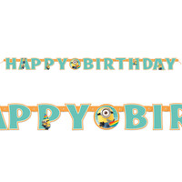 Minions Despicable Me - Jointed Birthday Banner