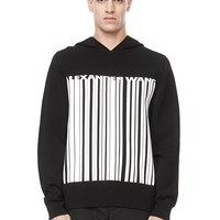 BARCODE LOGO HOODED SWEATER