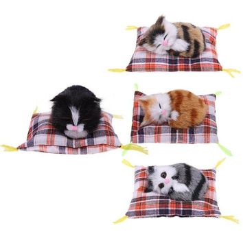 Kawaii Lovely Simulation Animal Doll Plush Sleeping Cats Toys unique decoration Toy Birthday Gift Doll Decorations stuffed toys