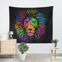 Rainbow Lion Tapestry
