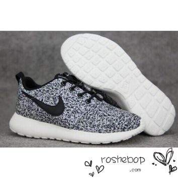 Nike Roshe Run Speckled White Womens Mens Sail Black Flower Snow