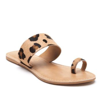Matisse Riva Leopard Animal Print Toe Ring Sandal