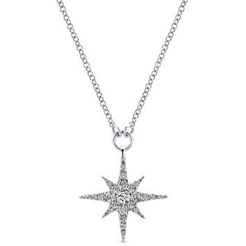 "Gabriel Pave Diamond ""Star"" Pendant"