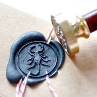 Scorpio Gold Plated Wax Seal Stamp x 1