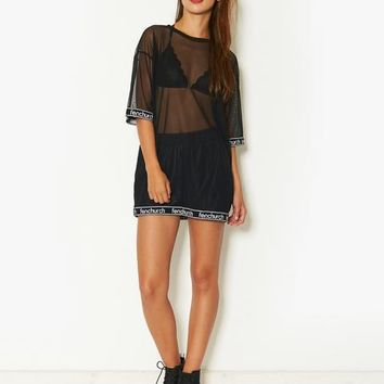 Fenchurch Mesh Oversized T-Shirt | BANK Fashion