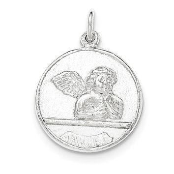 Sterling Silver Polished Raphael Angel Pendant