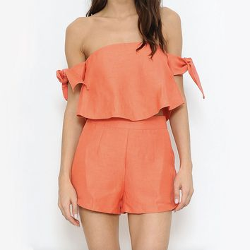 two piece romper set - honey suckle