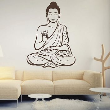 ik2884 Wall Decal Sticker Buddhism Indian Buddha meditation room bedroom living room