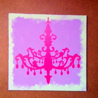 Adorable Shabby Chic Canvas Wall Art -- One of a Kind Original