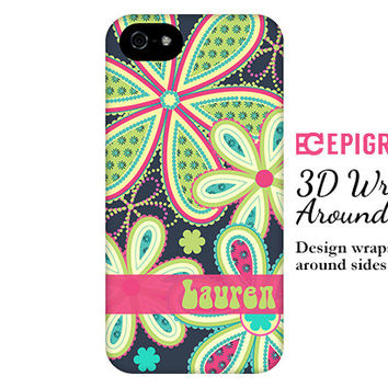 Personalized iPhone 6 case, funky flowers iPhone 6 plus case, boho floral iPhone case, iPhone 5c case, custom iphone 5s case, iPhone 4s case