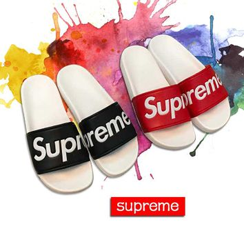 Leather Fashion Supreme Slippers