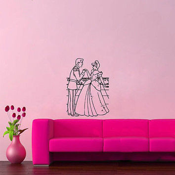 Wall Mural Vinyl Sticker Decal  CINDERELLA PRINCE BALL DA880
