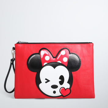 Disney Minnie Mouse Emoji Wristlet