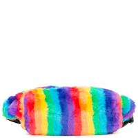 Women's Furry Rainbow Fanny Pack