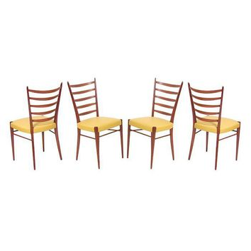 Pre-owned Danish Modern Teak High Back Dining Chairs