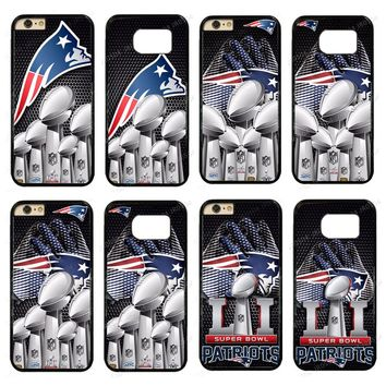 New England Patriots Super Bowl PC+TPU Phone Case Cover For iphone XS MAX XR X 5s 6s 7 8 Plus Samsung s5 s6 s7 s8 J5 2016 #67
