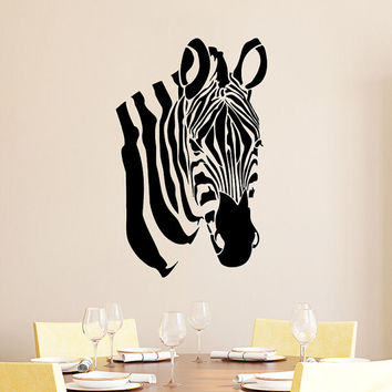 Wall Decals Zebra Animals Jungle Safari African Childrens Decor Kids Vinyl Sticker Wall Decal Nursery Bedroom Murals Playroom Art SV6125