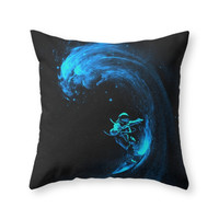 Society6 Space Surfing Throw Pillow