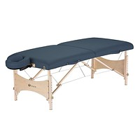Agate Blue Portable Massage Table with Adjustable Headrest Face Cradle and Carry Case