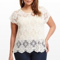 Plus Size Jasmine Crochet Top | Fashion To Figure