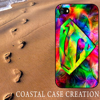 Colorful Superman Apple iPhone 4 4G 4S 5G Hard Plastic or Rubebr Cell Phone Case Cover Original Trendy Stylish Design