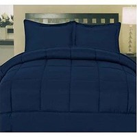 ComfortLiving Down Alternative 5 Piece Embossed Comforter Set - Navy (King)