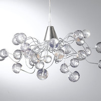 Ceiling light. Crystal clear bubbles.