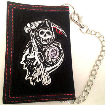 Sons of Anarchy Trifold Wallet with Chain
