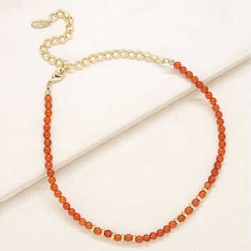 Travel Buddy Choker in Orange and Gold