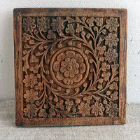 Vintage hand carved wooden, hand carved wood, Home & Living, Home decor, wall decor, Woodworking, Woodland, Rustic, Art, Organic, My wealth