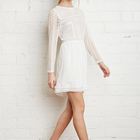 Floral Lace-Trimmed Dress
