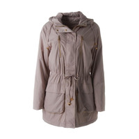 Calvin Klein Womens Hooded Long Sleeves Anorak Jacket