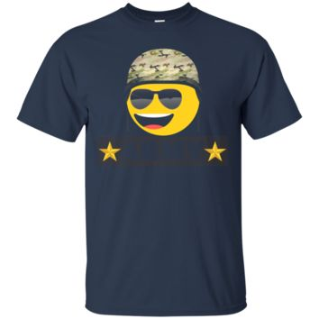 Funny Army and cute Emoji T-shirt