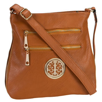 MKF Collection Cognac Brown Roneeda Crossbody Bag | zulily