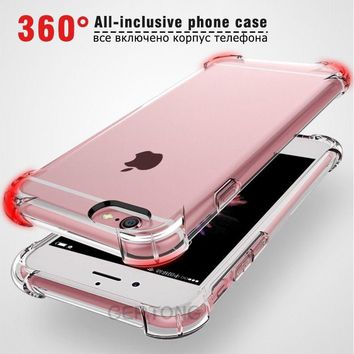 360 Full Cover Shockproof TPU Case For iPhone X 8 7 6 6s Plus 5 5s SE For Apple