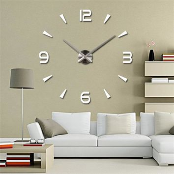 New High Quality 3D Wall Stickers Creative Fashion Living Room Clocks Large Wall Clock DIY Home Decoration Acrylic + EVA