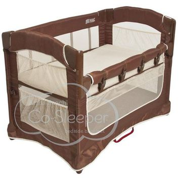 Arm's Reach Ideal Ezee 3 in 1 Baby Co-Sleeper Bedside Bassinet Cocoa/Natural NEW