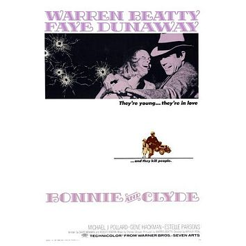 Bonnie And Clyde Movie 11inx17in poster