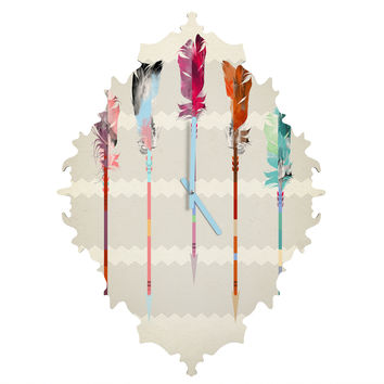 Iveta Abolina Feathered Arrows Baroque Clock