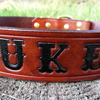 Large Dog Collar with name engraved