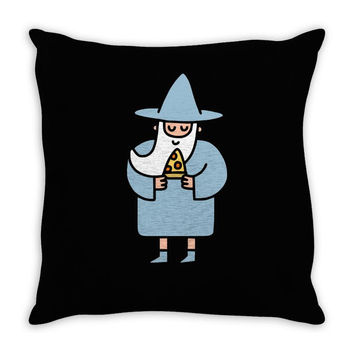 wizard pizza Throw Pillow
