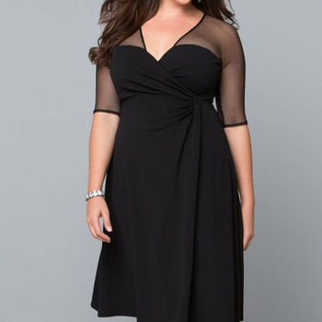Plus Size Sugar and Spice Dress in Black