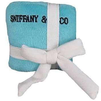 Sniffany and Co Plush Dog Parody GiftBox Toy w/ Squeaker