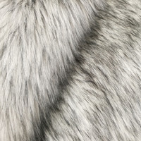 "Fashion Faux Fox Fur Fabric 57""-Silver 