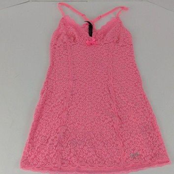 DCCKV2S Victoria's Secret Lingerie Sleepwear Top Pink Size Very Sexy